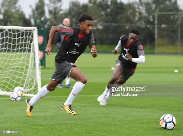 Joe Willock of Arsenal during a training session at London Colney on August 2 2017 in St Albans England