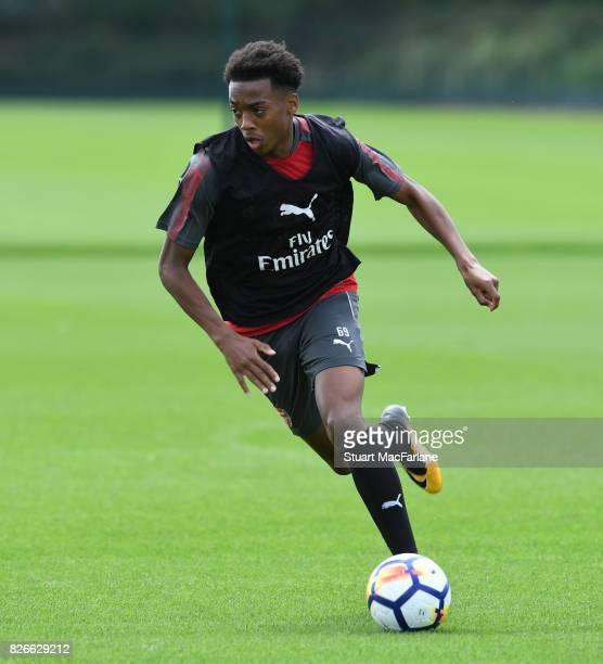 Joe Willock of Arsenal during a training session at London Colney on August 5 2017 in St Albans England