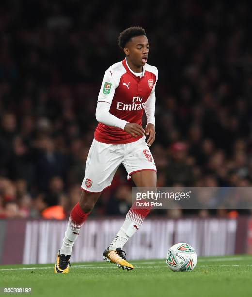 Joe Willock of Arsenal during the match between Arsenal and Doncaster Rovers at Emirates Stadium on September 20 2017 in London England