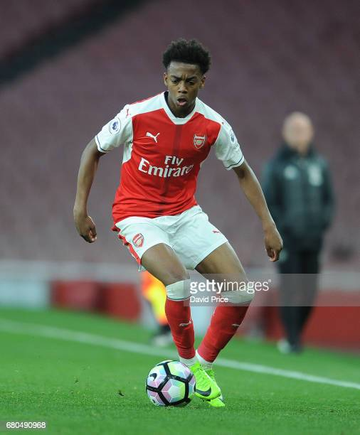 Joe Willock of Arsenal during the Premier League 2 match between Arsenal U23 and Manchester United U23 at Emirates Stadium on May 8 2017 in London...