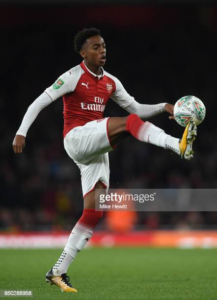 Joe Willock of Arsenal in action during the Carabao Cup Third Round match between Arsenal and Doncaster Rovers at Emirates Stadium on September 20...