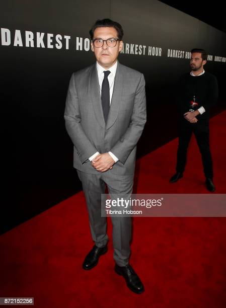 Joe Wright attends the premiere of Focus Features 'Darkest Hour' at Samuel Goldwyn Theater on November 8 2017 in Beverly Hills California