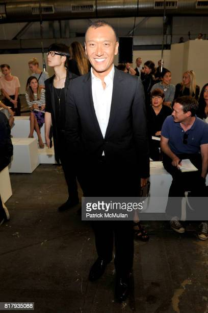 Joe Zee attends ALEXANDER WANG Spring 2011 Fashion Show at Pier 94 West Side Highway on September 11 2010 in New York City