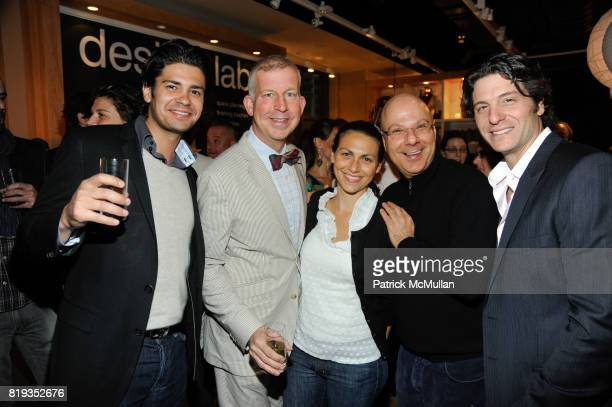 Joe Zimmer David Beahm Elie Ron BenIsrael and Darren Olarsch attend DAVID STARK and West Elm preview party for The Flower Shoppe and celebration of...