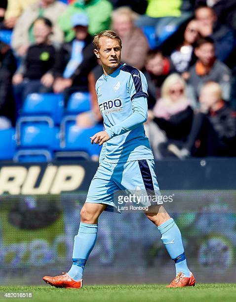 Joel Allansson of Randers FC looks on during the Danish Alka Superliga match between Randers FC and FC Nordsjalland at AutoC Park on July 26 2015 in...