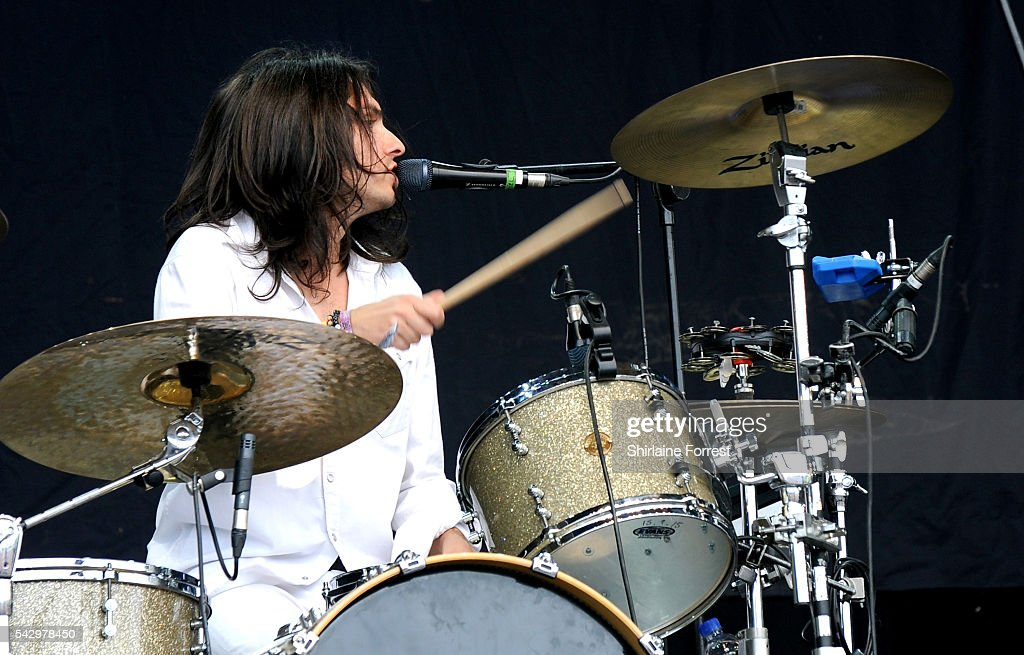 Joel Amey of Wolf Alice performs on The Pyramid Stage at Glastonbury Festival 2016 at Worthy Farm, Pilton on June 25, 2016 in Glastonbury, England.