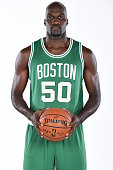 Joel Anthony of the Boston Celtics poses for a portrait on September 29 2014 at the the Boston Cetlics Training Center at Healthpoint in Waltham...