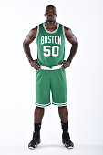 Joel Anthony of the Boston Celtics poses for a portrait on September 29 2014 at the Boston Cetlics Training Center at Healthpoint in Waltham...