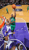 Joel Anthony of the Boston Celtics shoots against the Sacramento Kings on February 22 2014 at Sleep Train Arena in Sacramento California NOTE TO USER...