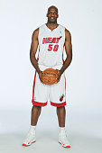 Joel Anthony of the Miami Heat poses for a photo during media day on September 30 2013 at the American Airlines Arena in Miami Florida NOTE TO USER...