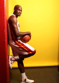 Joel Anthony of the Miami Heat poses for a portrait during Media Day on September 28 2012 at American Airlines Arena in Miami Florida NOTE TO USER...