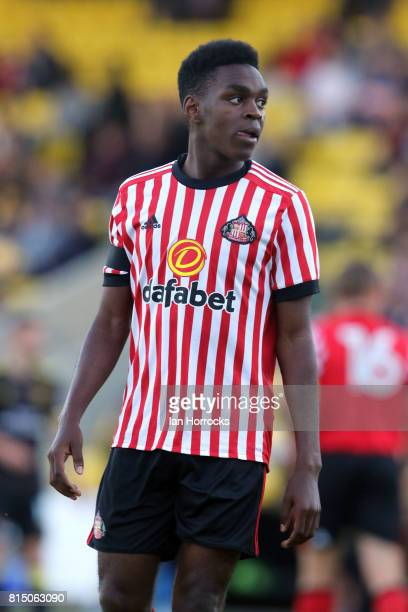Joel Asoro of Sunderland during a preseason friendly match between Livingston FC and Sunderland AFC at the Almondvale Stadium on July 12 2017 in...