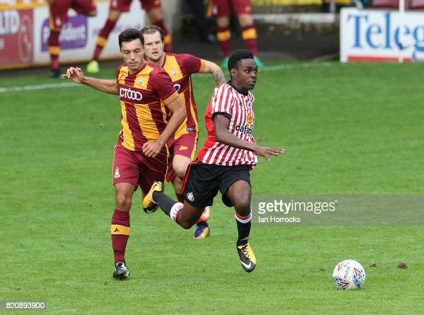Joel Asoro of Sunderland during a preseason friendly match between Bradford City and Sunderland AFC at the Coral Windows Stadium Valley Parade on...