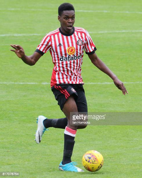 Joel Asoro of Sunderland during a preseason friendly match between St Johnstone FC and Sunderland AFC at McDiarmid Park on July 15 2017 in Perth...