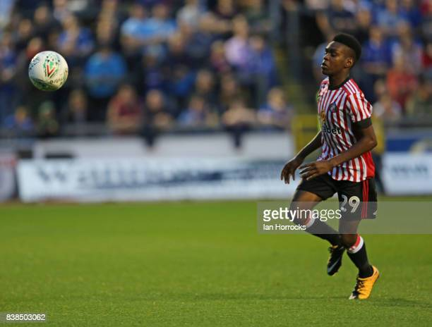 Joel Asoro of Sunderland during the Carabao Cup 2nd round match between Carlisle United and Sunderland at Brunton Park on August 22 2017 in Carlisle...