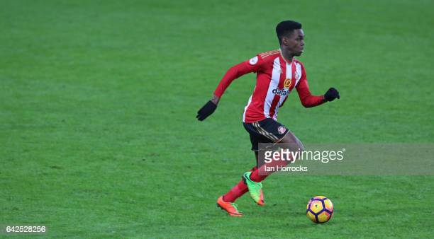 Joel Asoro of Sunderland during the Premier League International Cup Quarter Final match between Sunderland U23 and Athletic Bilbao U23 at the...