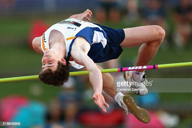 Joel Baden of Victoria competes in the mens high jump during the Australian Athletics Championships at Sydney Olympic Park on April 2 2016 in Sydney...