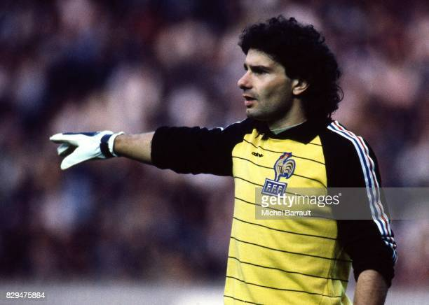 Joel Bats of France during the European Championship match between France and Denmark at Parc des Princes Paris France on 12th June 1984