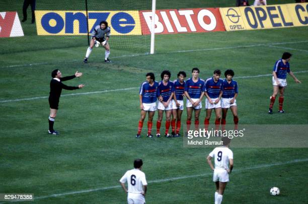 Joel Bats of France illustration free kick during the European Championship match between France and Denmark at Parc des Princes Paris France on 12th...
