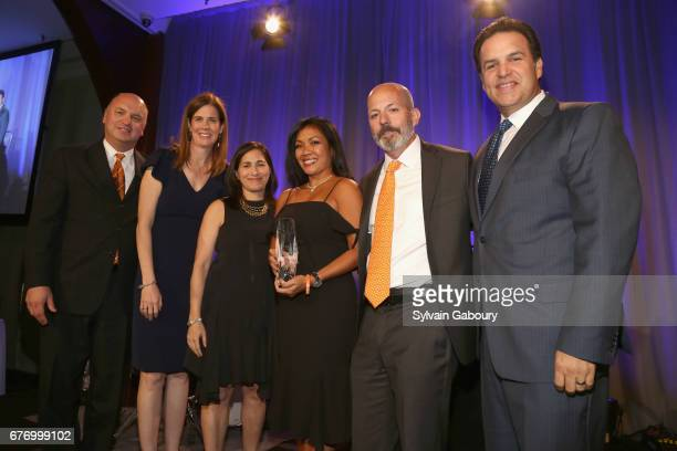 Joel Beetsch Anne Quinn Young Catherine Sloane Tani Gelber Eric Gelber and Chad Saward attend Multiple Myeloma Research Foundation Laugh for Life at...
