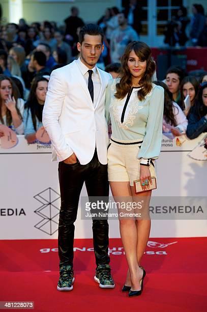 Joel Bosqued and Adrea Duro attend 'La Vida Inesperada' premiere during the 17th Malaga Film Festival 2014 at Teatro Cervantes on March 28 2014 in...