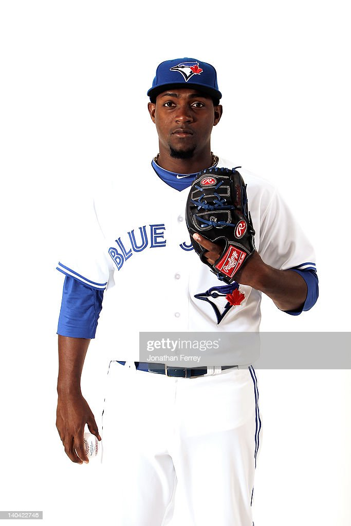 Joel Carreno #34 of the Toronto Blue Jays poses for a portrait at Dunedin Stadium on March 2, 2012 in Dunedin, Florida.