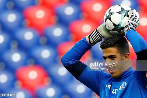 Joel Castro Pereira of Manchester United attends a training session of his team ahead of UEFA Champions League Group match between Manchester and...