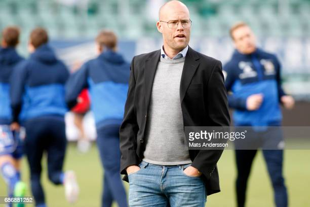 Joel Cedergren head coach of GIF Sundsvall before the Allsvenskan match between GIF Sundsvall and IFK Goteborg at Idrottsparken on May 22 2017 in...