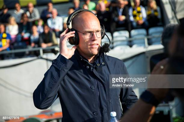 Joel Cedergren head coach of GIF Sundsvall during a interview prior to the Allsvenskan match between BK Hacken and GIF Sundsvall at Bravida Arena on...