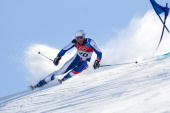 Joel Chenal of France competes in Men's Giant Slalom final during Day 10 of the Turin 2006 Winter Olympic Games on February 20 2006 at Sestriere...