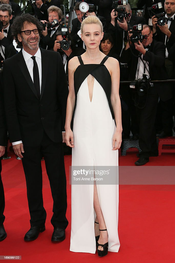 Joel Coen and Carey Mulligan attend the Premiere of 'Inside Llewyn Davis' at The 66th Annual Cannes Film Festival on May 19, 2013 in Cannes, France.