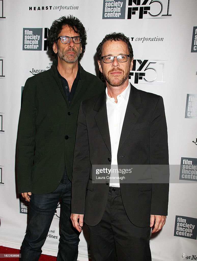 <a gi-track='captionPersonalityLinkClicked' href=/galleries/search?phrase=Joel+Coen&family=editorial&specificpeople=4292064 ng-click='$event.stopPropagation()'>Joel Coen</a> and <a gi-track='captionPersonalityLinkClicked' href=/galleries/search?phrase=Ethan+Coen&family=editorial&specificpeople=1130888 ng-click='$event.stopPropagation()'>Ethan Coen</a> attend the 'Inside Lleywn Davis' permiere during the 51st New York Film Festival at Alice Tully Hall at Lincoln Center on September 28, 2013 in New York City.