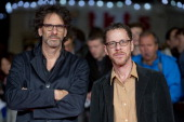 Joel Coen and Ethan Coen attend the screening of 'Inside Llewyn Davis' Centrepiece Gala Supported By The Mayor Of London during the 57th BFI London...