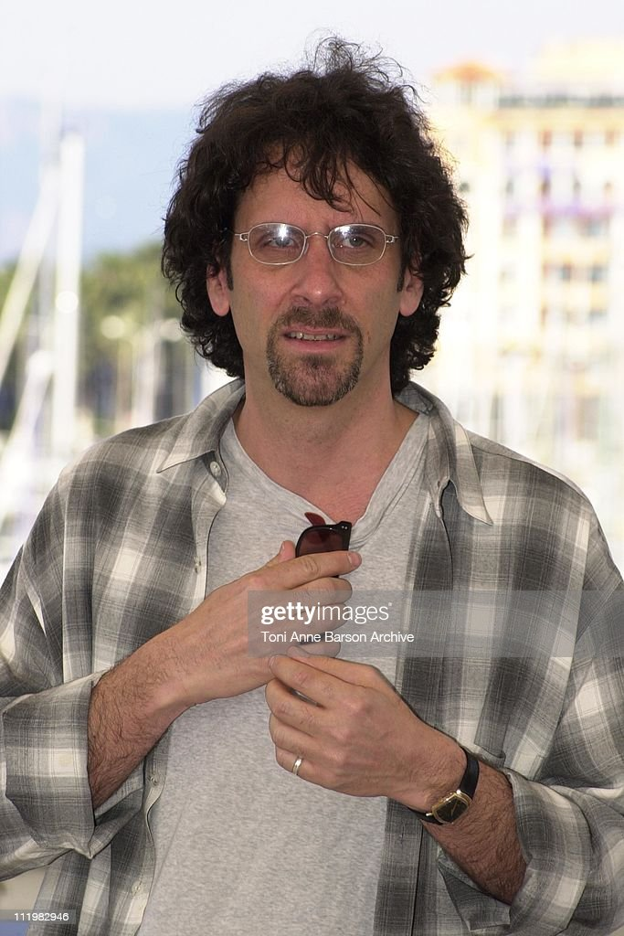 <a gi-track='captionPersonalityLinkClicked' href=/galleries/search?phrase=Joel+Coen&family=editorial&specificpeople=4292064 ng-click='$event.stopPropagation()'>Joel Coen</a> during Cannes 2001 - The Man Who Wasn't There Photo Call at Palais des Festivals in Cannes, France.