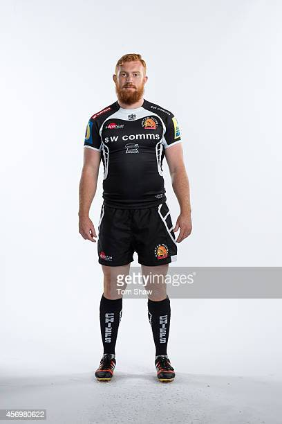 Joel Conlon of Exeter Chiefs poses for a picture during the BT Photo Shoot at Sandy Park on August 26 2014 in Exeter England