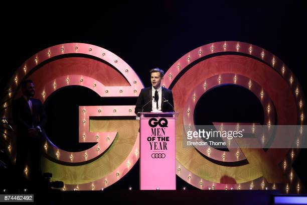 Joel Creasey presents the award for Model of the Year during the GQ Men Of The Year Awards Ceremony at The Star on November 15 2017 in Sydney...