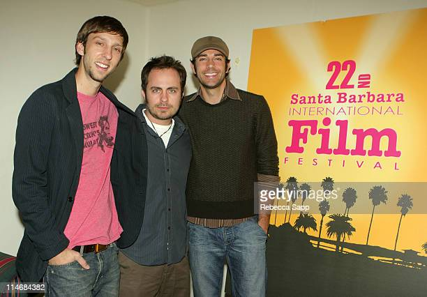 Joel David Moore codirector 'Spiral' Jeremy Boreing producer 'Spiral' and Zachary Levi Winners of The Gold Vision Award Sponsored by York...