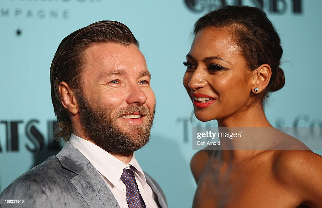 <a gi-track='captionPersonalityLinkClicked' href=/galleries/search?phrase=Joel+Edgerton&family=editorial&specificpeople=211291 ng-click='$event.stopPropagation()'>Joel Edgerton</a> and Alexis Blake arrive for the Sydney premiere of 'The Great Gatsby' at The Entertainment Quarter on May 22, 2013 in Sydney, Australia.