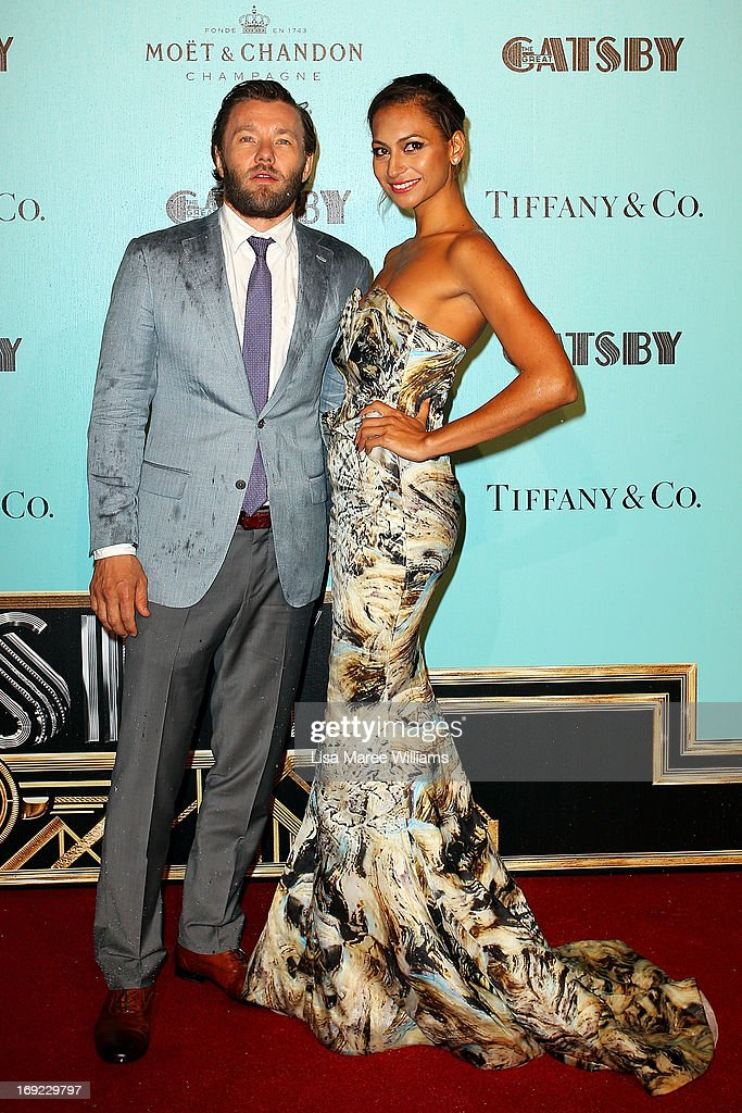 <a gi-track='captionPersonalityLinkClicked' href=/galleries/search?phrase=Joel+Edgerton&family=editorial&specificpeople=211291 ng-click='$event.stopPropagation()'>Joel Edgerton</a> and Alexis Blake attend the 'Great Gatsby' Australian premiere at Moore Park on May 22, 2013 in Sydney, Australia.