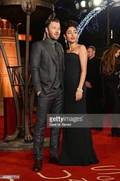 Joel Edgerton and Golshifteh Farahani attend the World Premiere of 'Exodus Gods and Kings' at Odeon Leicester Square on December 3 2014 in London...