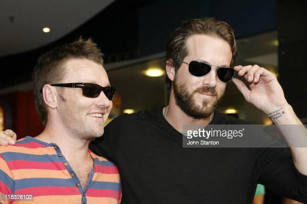 Joel Edgerton and Ryan Reynolds during MySpace Black Carpet Premiere of 'Smokin' Aces' February 5 2007 at Hoyts Cinema in Sydney NSW Australia