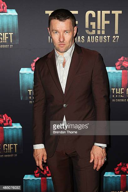 Joel Edgerton arrives ahead of 'The Gift' Sydney Premiere at Event Cinemas George Street on August 24 2015 in Sydney Australia