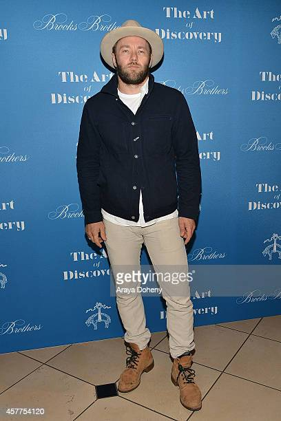 Joel Edgerton attends the LA launch for Jeff Vespa's new book 'The Art of Discovery' at Brooks Brothers Rodeo on October 23 2014 in Beverly Hills...