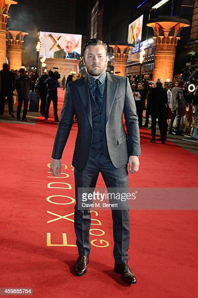 Joel Edgerton attends the World Premiere of 'Exodus Gods and Kings' at Odeon Leicester Square on December 3 2014 in London England
