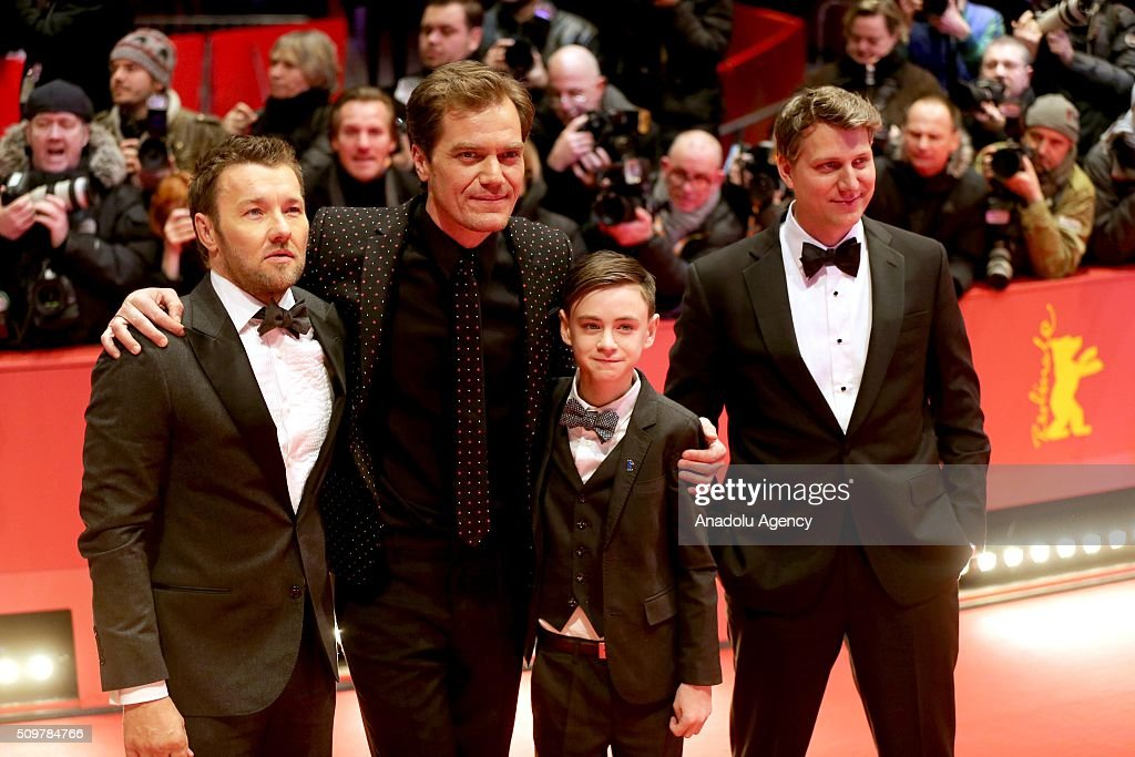 Joel Edgerton, Michael Shannon, Jaeden Lieberher and Jeff Nichols attend the 'Midnight Special' premiere during the 66th Berlinale International Film Festival Berlin at Berlinale Palace on February 12, 2016 in Berlin, Germany.