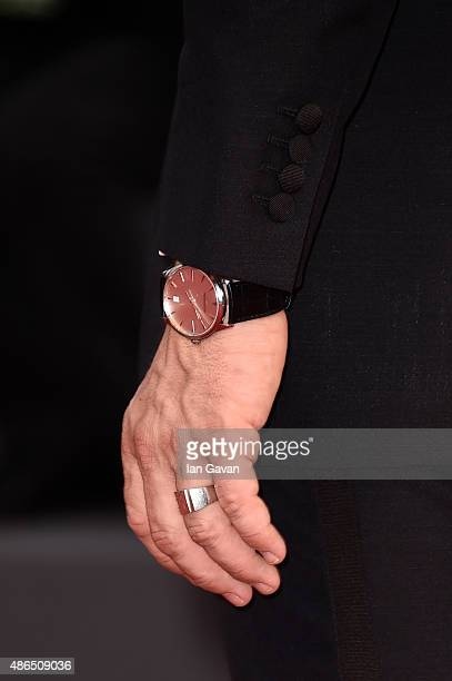 Joel Edgerton wearing a JaegerLeCoultre watch Detailattends the'Black Mass' premiere during the 72st Venice Film Festival at the Palazzo del Casino...