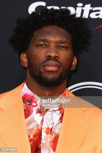 Joel Embiid arrives at the 2017 ESPYS at Microsoft Theater on July 12 2017 in Los Angeles California