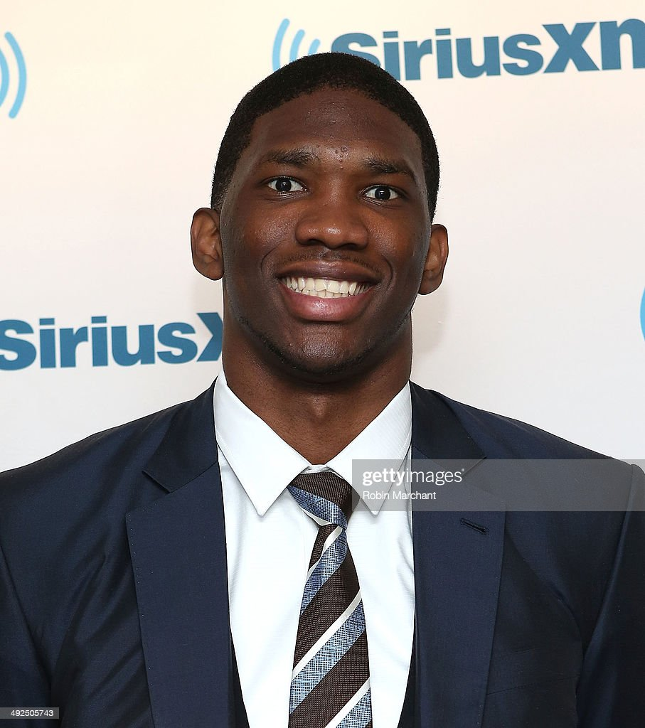 Joel Embiid visits at SiriusXM Studios on May 20, 2014 in New York City.