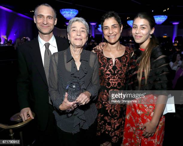 Joel Fields Sybil Fields Debra Fields and guest attend JDRF LA's IMAGINE Gala to benefit type 1 diabetes research at The Beverly Hilton on April 22...