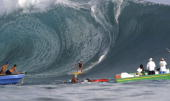 Joel Fitzgerald of Australia in action a big wave specialist is one of the major contenders to pick up one of three wild cards in the Air TahitiNui...